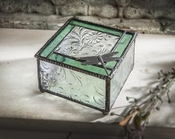 J Devlin Art Glass Box Dragonfly Sycamore