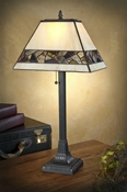 J Devlin Art Glass Lamp Multi Color Mosaic