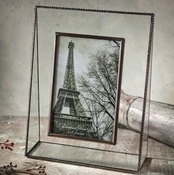 J Devlin Art Glass Picture Frame Clear Glass w/Beaded Edging