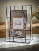 J Devlin Art Glass 4x6 Vertical Picture Frame Clear Textures