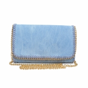 Urban Expressions Jeans Blue Foster Clutch  - CLOSEOUT