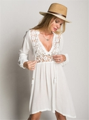 Muche et Muchette Journey Lace Tunic - White