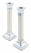 "Julia Knight Classic 9.5"" Candlestick Set of 2 Snow"
