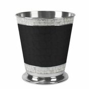 "Julia Knight Classic 9.75"" Waste Basket Caviar"