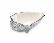 "Julia Knight Conch Shell 8.25"" Bowl Snow"