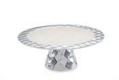 "Julia Knight Diamond 10"" Cake Stand Snow"