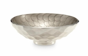 "Julia Knight Diamond 10"" Round Bowl Platinum"
