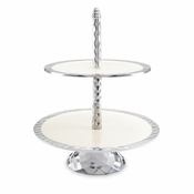 "Julia Knight Diamond 11.5"" Two-Tiered Server Snow"
