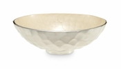 "Julia Knight Diamond 13"" Round Bowl Snow"