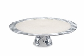 "Julia Knight Diamond 14"" Cake Stand Snow"
