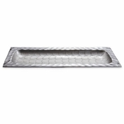 "Julia Knight Diamond 15"" Rectangular Tray Platinum"