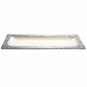"Julia Knight Diamond 15"" Rectangular Tray Snow"