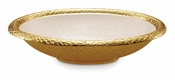 "Julia Knight Florentine 15"" Oval Bowl Gold Snow"