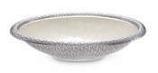"Julia Knight Florentine 15"" Oval Bowl Silver Snow"