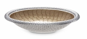 "Julia Knight Florentine 15"" Oval Bowl Silver Toffee"