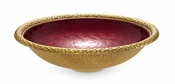 "Julia Knight Florentine 15"" Round Bowl Gold Pomegranate"