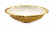 "Julia Knight Florentine 15"" Round Bowl Gold Snow"