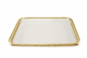"Julia Knight Florentine 15"" Square Tray Gold Snow"