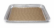 "Julia Knight Florentine 15"" Square Tray Silver Toffee"