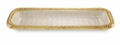 "Julia Knight Florentine 16"" Rectangular Tray Gold Snow"