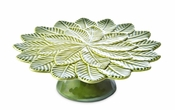 "Julia Knight Leaf 11"" Footed Cake Plate"