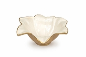 "Julia Knight Lily 8"" Bowl Gold Snow"