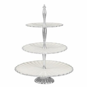"Julia Knight Peony 16"" Three-Tiered Server Snow"