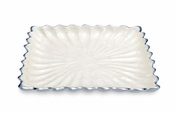 "Julia Knight Peony 9"" Square Tray Snow"