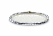 "Julia Knight Queen Bee 11.5"" Oval Tray Snow"