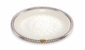 "Julia Knight Queen Bee 13"" Round Tray Snow"