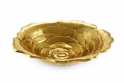 "Julia Knight Rose 12"" Bowl Gold"
