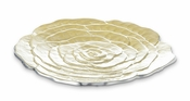 "Julia Knight Rose 15"" Platter Lemon Ice"