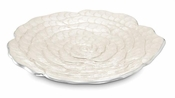 "Julia Knight Rose 15"" Platter Silver Snow"