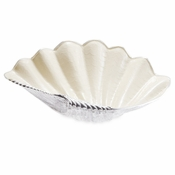 "Julia Knight Tahitian Clam Shell 25"" Bowl Snow"