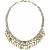 Karine Sultan Antique Gold And Silver Necklace - CLOSEOUT