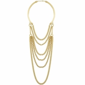 Karine Sultan Elia Layered Necklace In Gold - CLOSEOUT