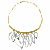 Karine Sultan Geometric Cut Out Necklace - CLOSEOUT