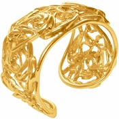 Karine Sultan Abstract Heart Gold Cuff  - CLOSEOUT