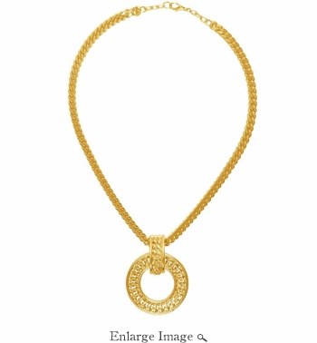 Karine Sultan Gold Pendant Necklace - CLOSEOUT
