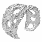 Karine Sultan Norah Honeycomb Cuff In Silver - CLOSEOUT