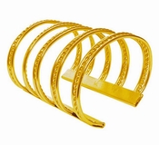 Karine Sultan Twisted Large Gold Cuff - CLOSEOUT