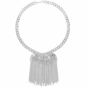 Karine Sultan Wendy Waterfall Collar Necklace In Silver - CLOSEOUT
