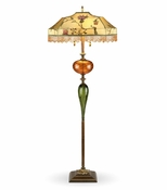 Kinzig Design James Floor Lamp with Beaded Shade