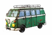 Kool Kombi '66 Cooler Dark Green