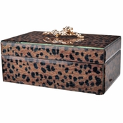 Leopard Glass Jewelry Box - GREEN MONDAY SPECIAL