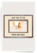 Love You To The Moon Copper & Glass Photo Frame 4x6 - CLOSEOUT