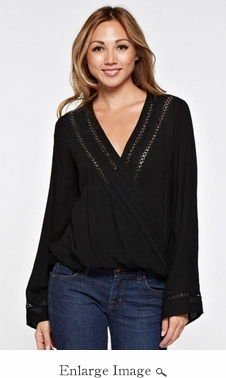 Lovestitch Bell Sleeve Wrap Top - CLOSEOUT