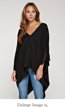 Lovestitch Double V Caftan Top- CLOSEOUT