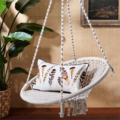 Set of 2 Macrame Hanging Chairs