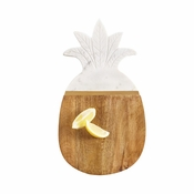 Marble & Wood Pineapple Serving Board - Shipping September